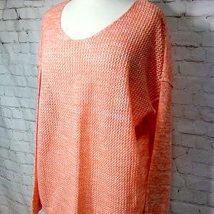 Lane Bryant cotton open weave sweater size 18/20